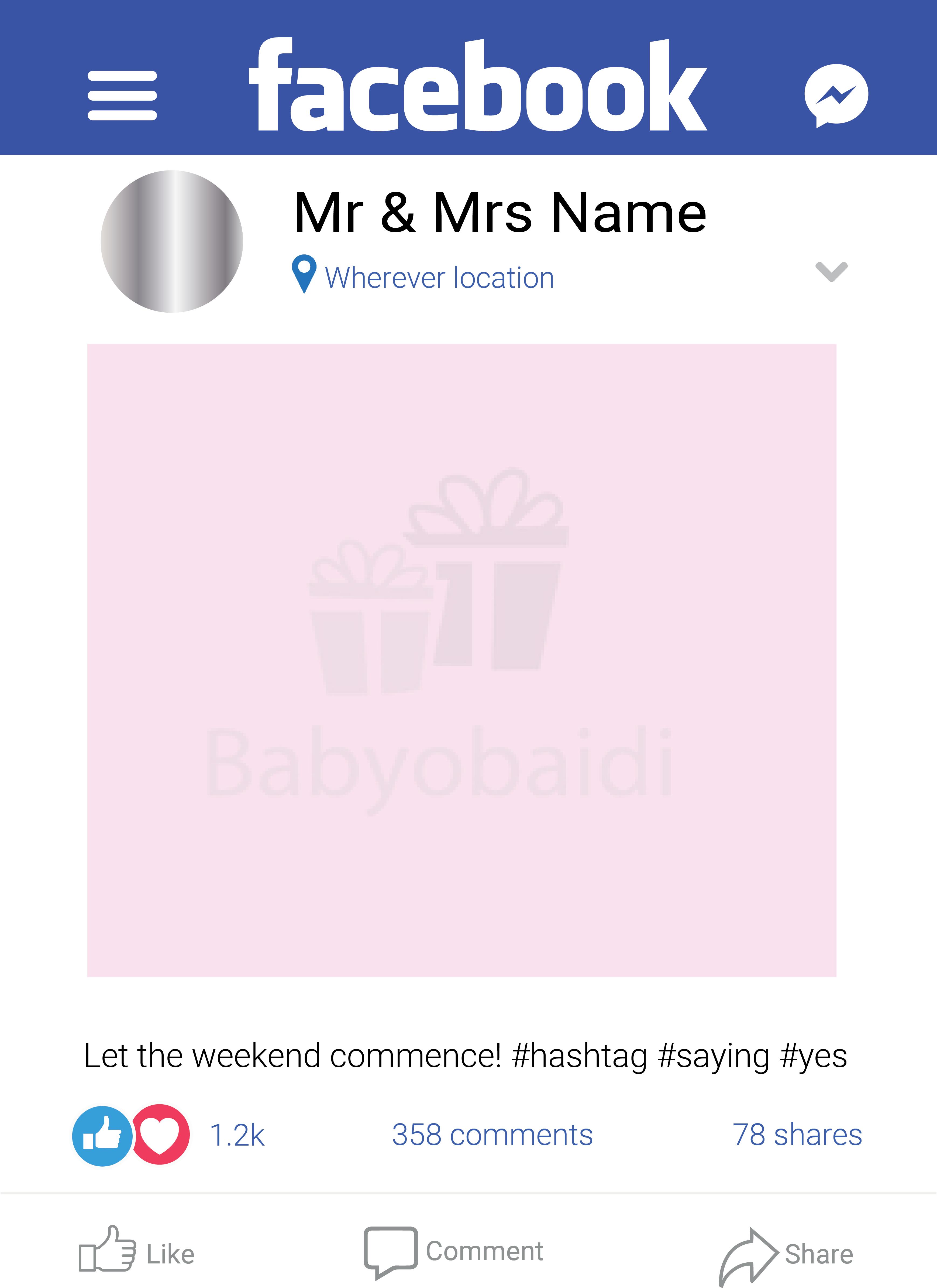 Babyobaidi Facebook Selfie Frame: Original.