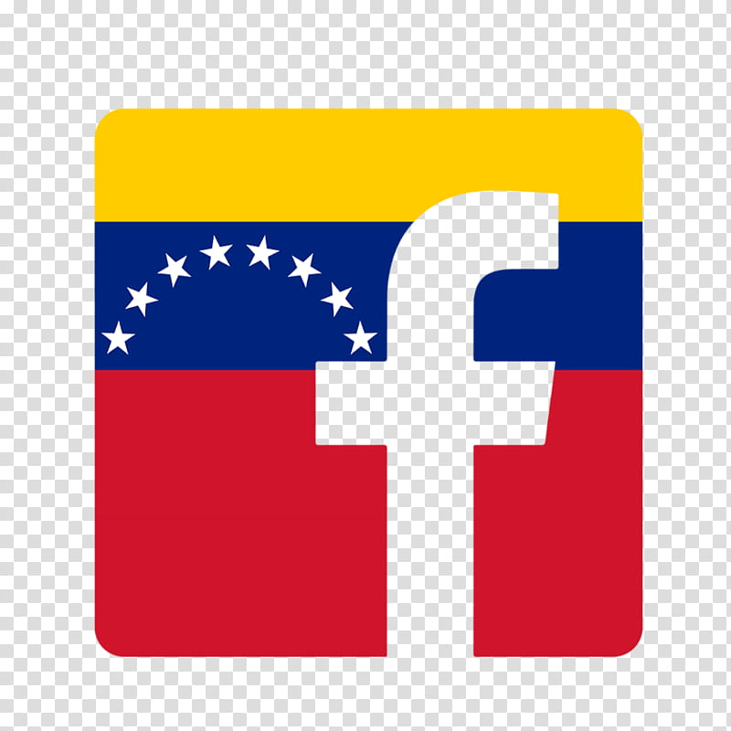 Facebook Venezuela Logo en transparent background PNG.