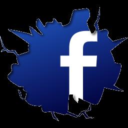 Facebook Logo Fb Crack Break Effect.