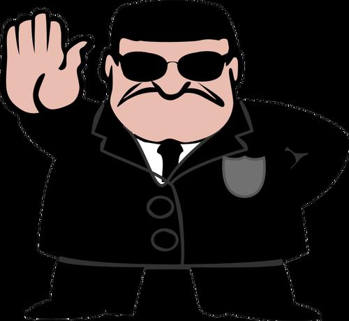 FBI agent vector clip art.