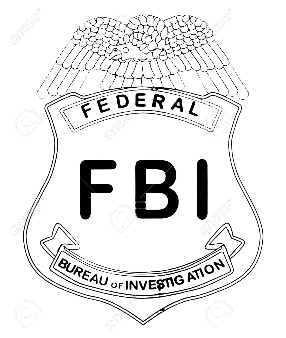 Fbi badge clipart.