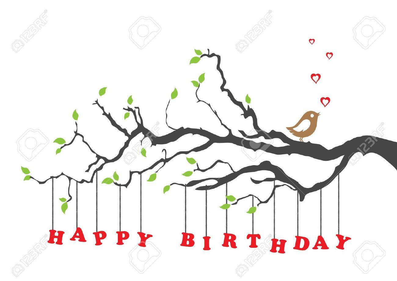 Happy Birthday Nature Clipart.