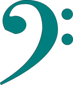Bass Clef Teal Clip Art at Clker.com.