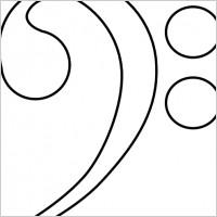 Bass Clef clip art.