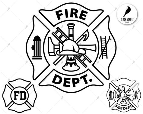 Fire dept svg, firefighter svg, fire department svg, FD svg.