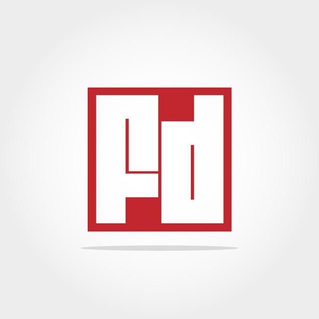Initial Letter Fd Logo Template Design Template for Free Download on.