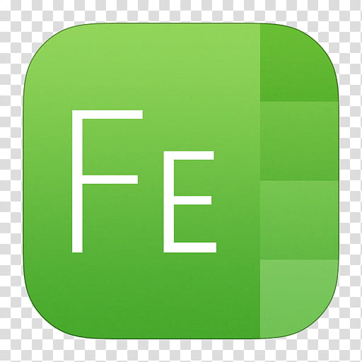 IOS Icons Updated , FontExplorer X, letter FE transparent.