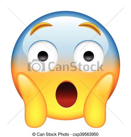 Face Screaming in Fear. Screaming in Fear Emoji.