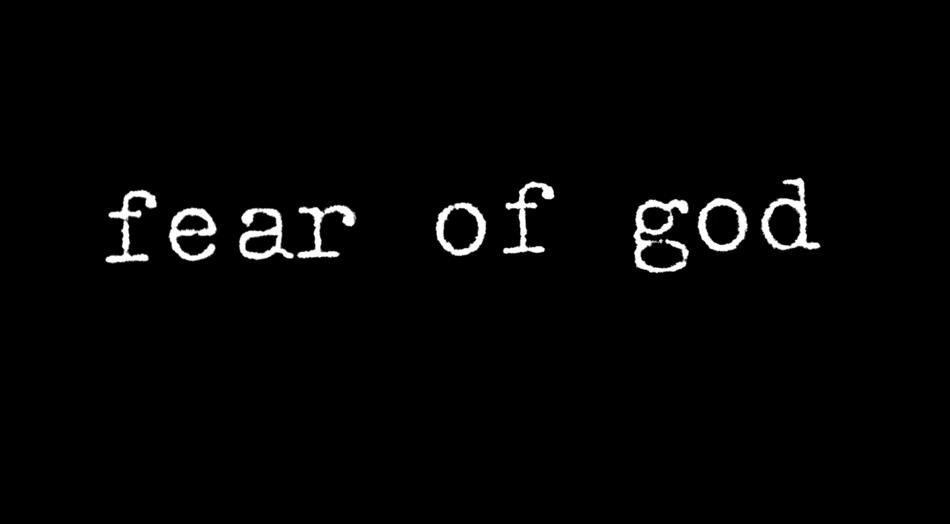 Fear of god Logos.