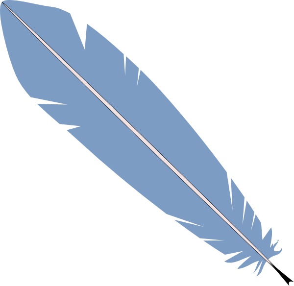 Blue Feather Clipart.