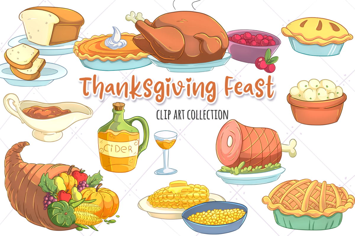 Thanksgiving Feast Clip Art Collection.