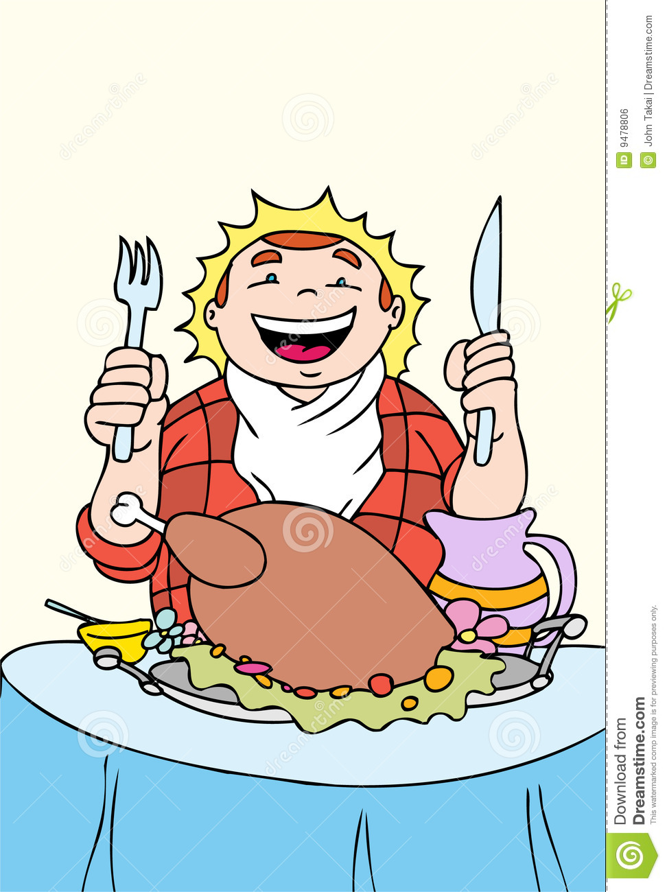 Thanksgiving Feast Royalty Free Stock Image.