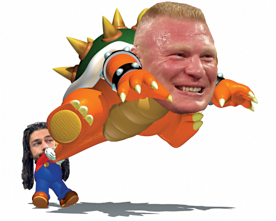 Photoshop: Roman Reigns' feats of strength..
