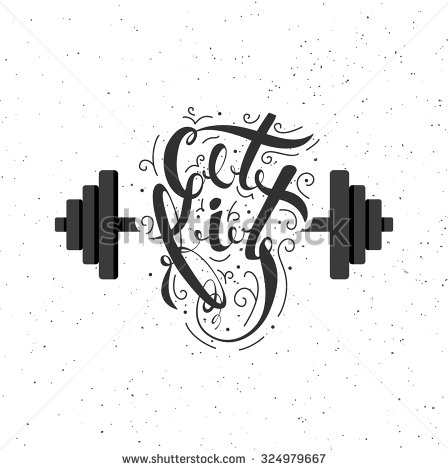 A symbol of strength and a healthy lifestyle. Illustration.