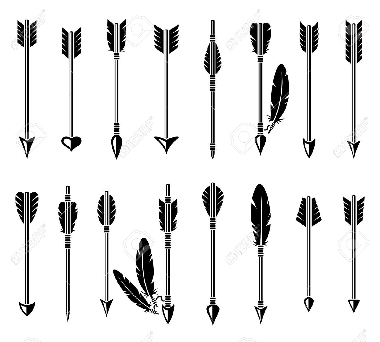 Feather arrow clipart 7 » Clipart Station.