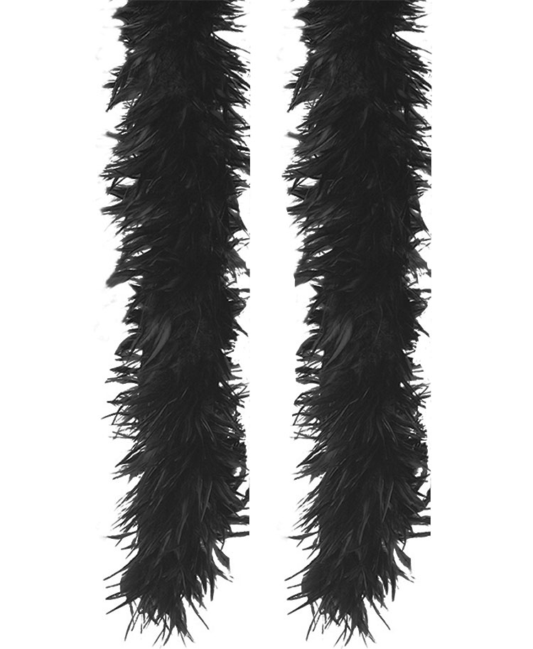 Black And White Feather Boa Clipart.