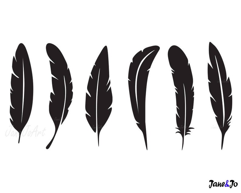 Feather SVG, Feathers SVG, Feather Clipart, cricut, Feather silhouette  files , SVG Feathers,commercial use,Boho Feathers svg, Feather vector.