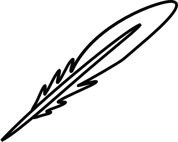Free Black And White Feather Clip Art, Download Free Clip.
