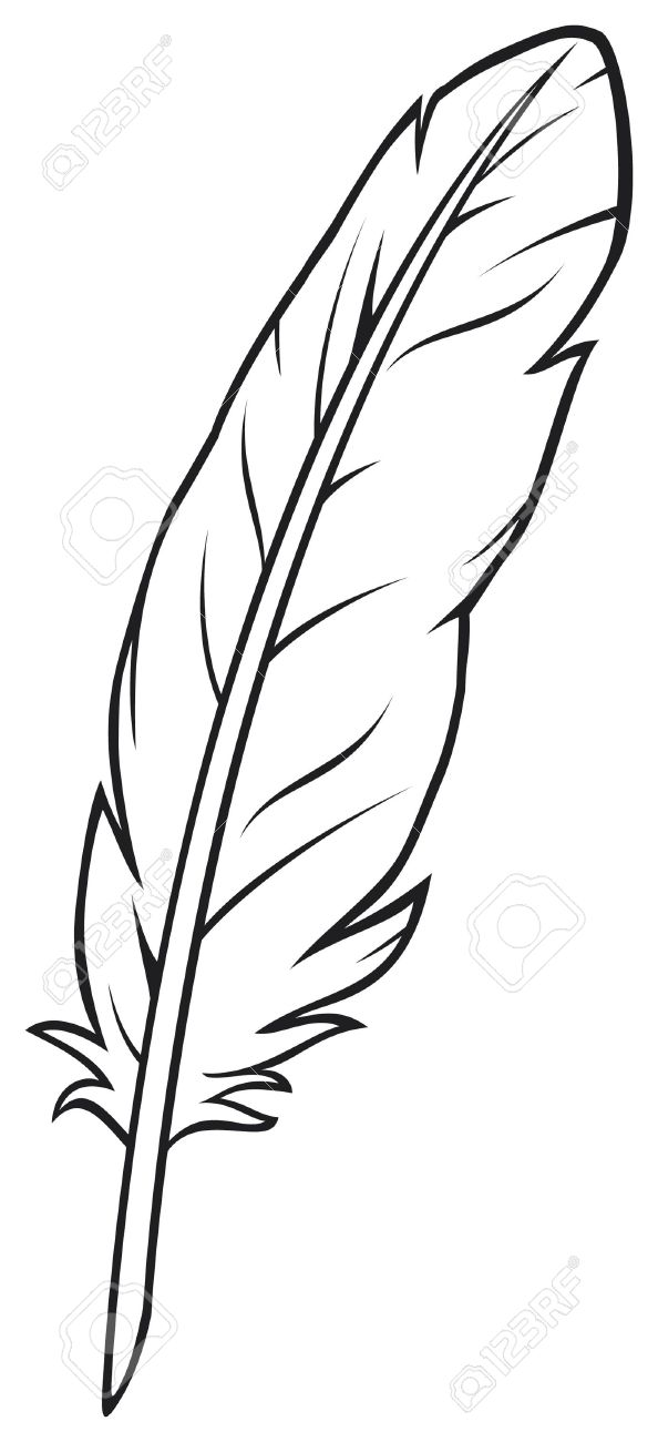4708 Feather free clipart.