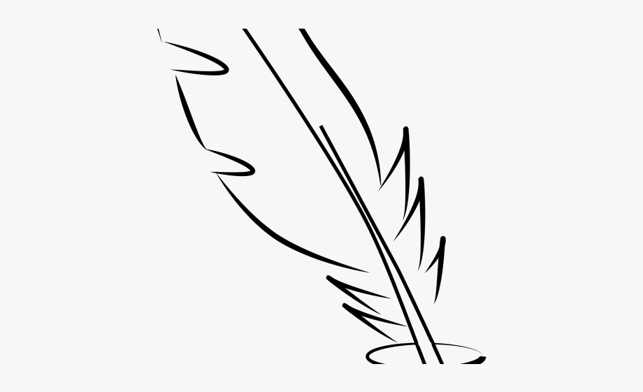 Feather Clipart Black And White.