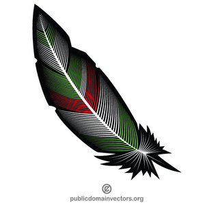 105 feather free clipart.