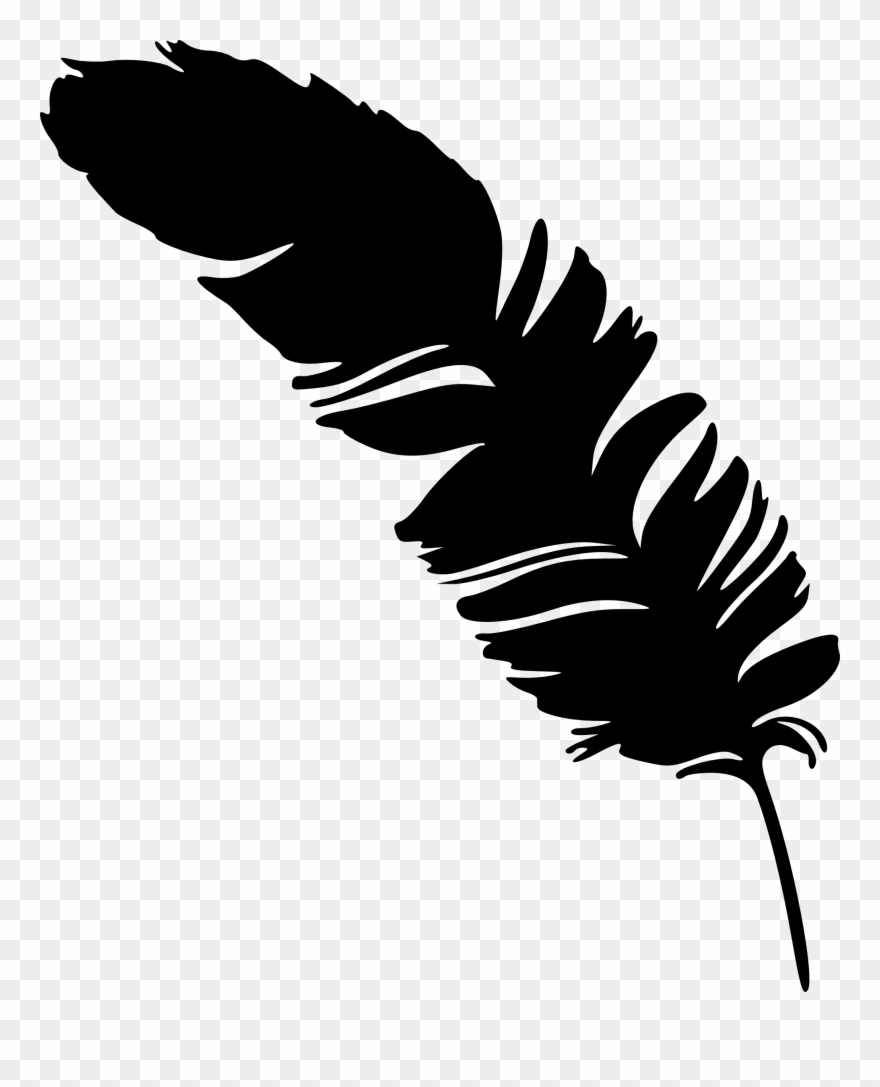 Feather Silhouette Feather Png Clipart (#554440).