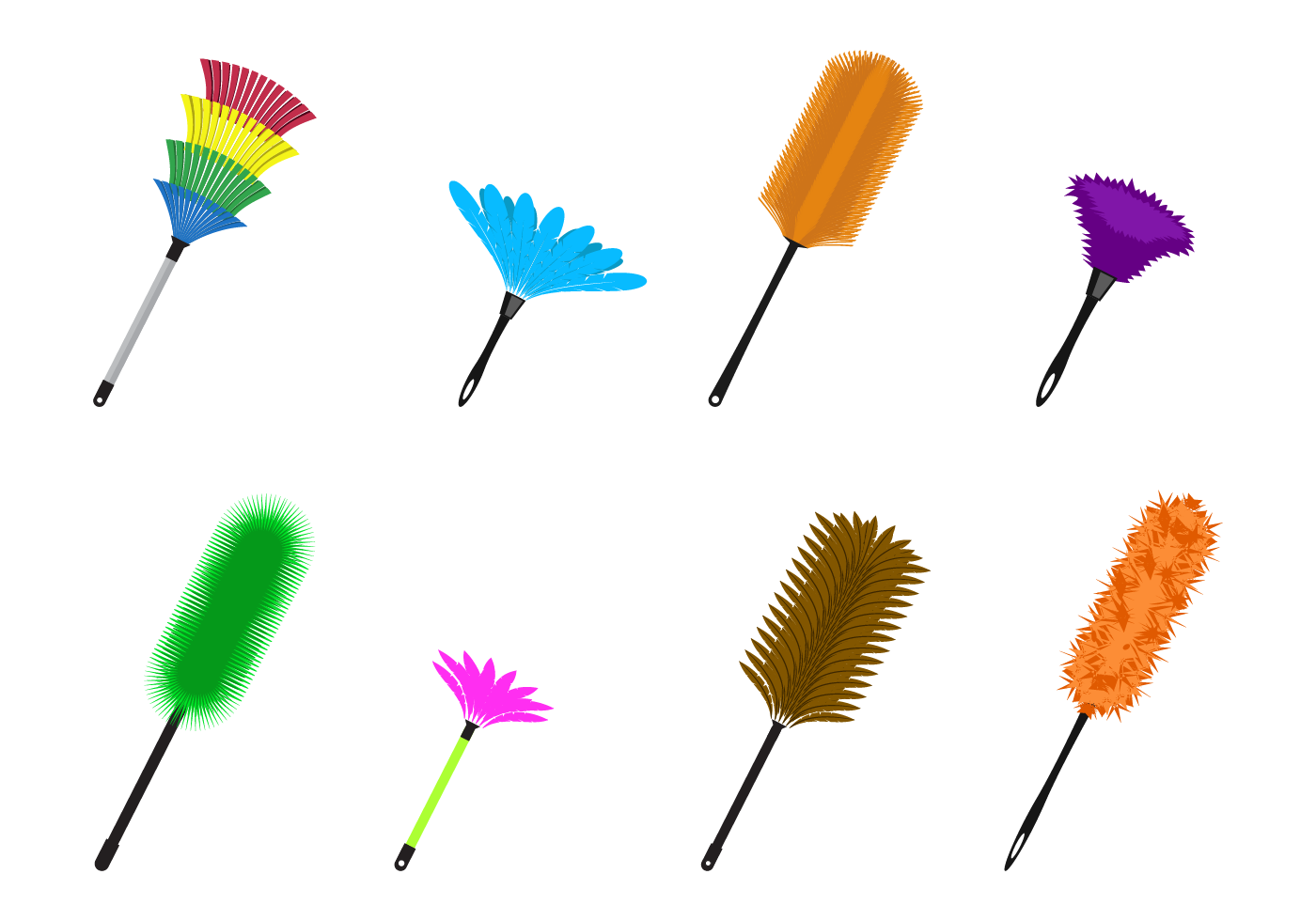 Colorful Feather Duster.