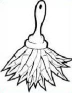 Duster Clipart Black And White.
