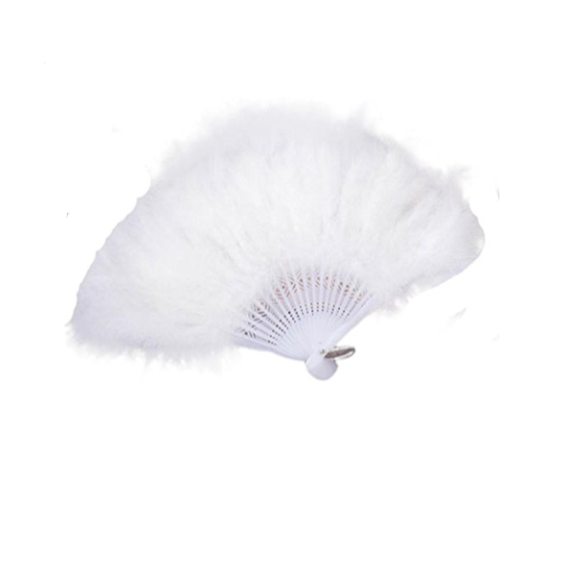 White Feather Wedding Fan.