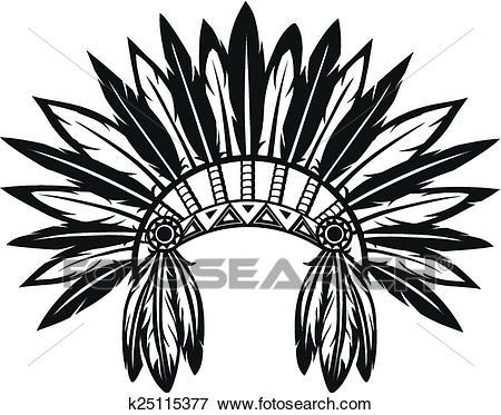 Indian headdress Clip Art.