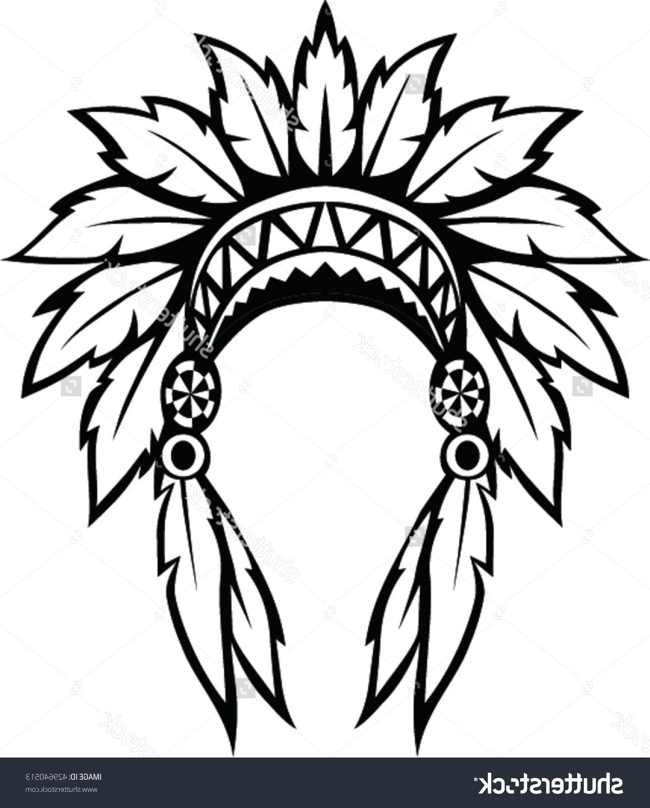Indian Headdress Sketch at PaintingValley.com.