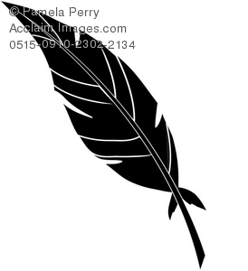 Black Feather Clipart.