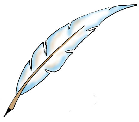 Eagle Feather Drawing Clipart.
