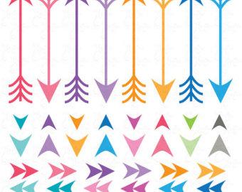 Single feathered arrow clip art.