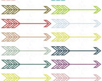Feathered arrow clip art.
