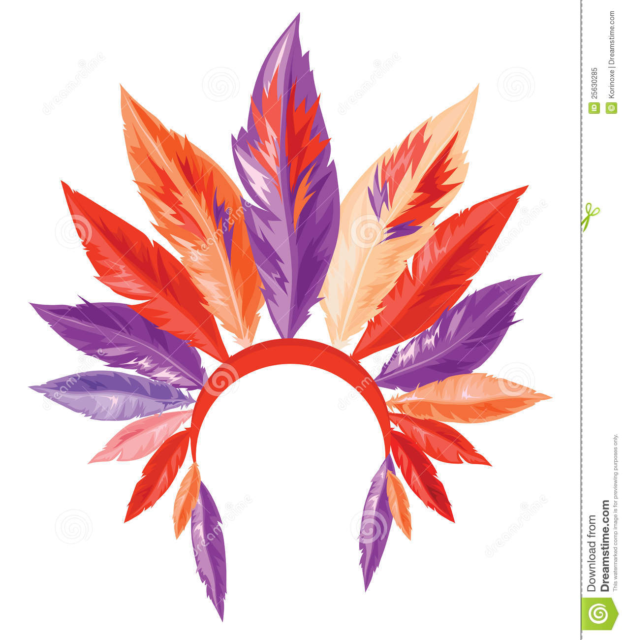 Indian feather headdress clipart.
