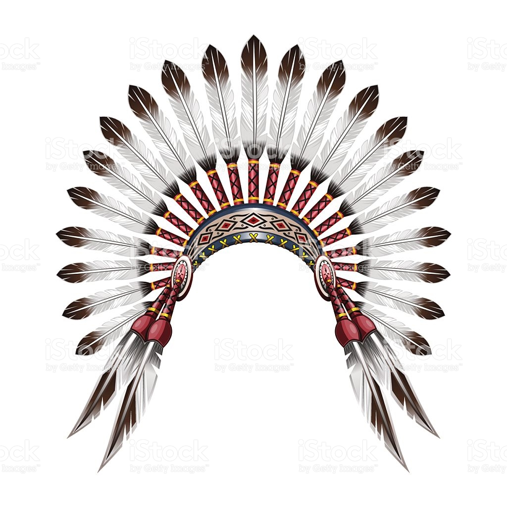 Indian head dress silhouette clipart.