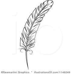 Feathers clipart black and white 1 » Clipart Station.