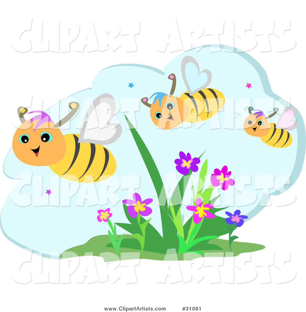 Bees And Flowers Clipart Featured Clipart By Bpearth #BeS8yP.
