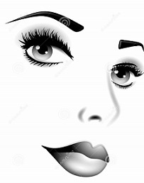 Free Facial Features Clipart.