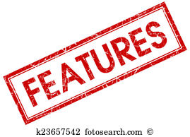 Features Clipart and Stock Illustrations. 7,689 features vector.