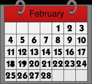 Feb calendar clipart.