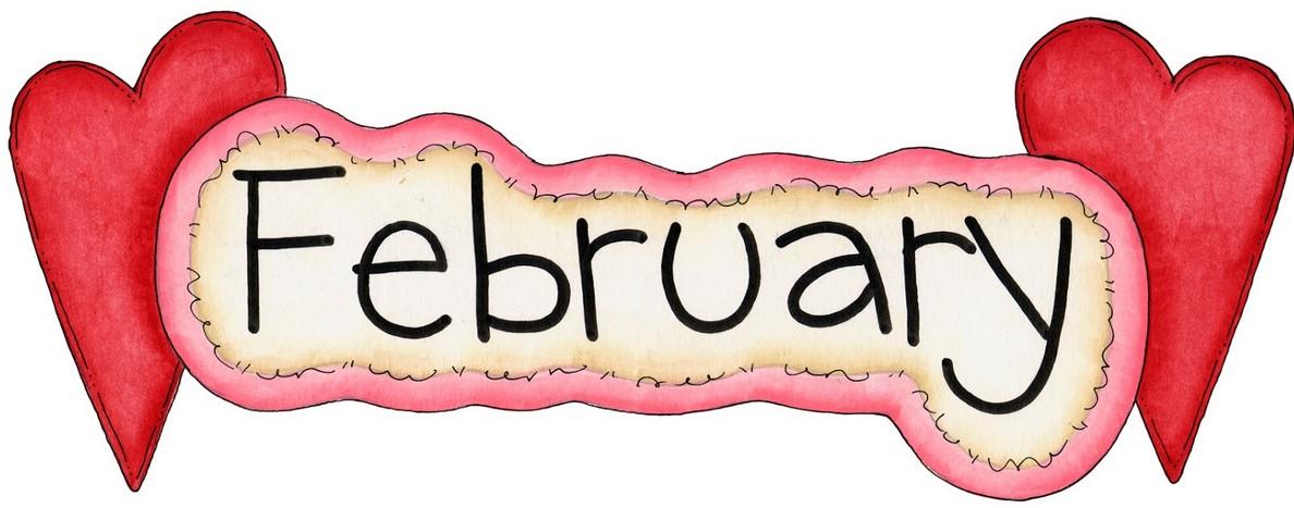 Clipart February 2017 Month Calendar.