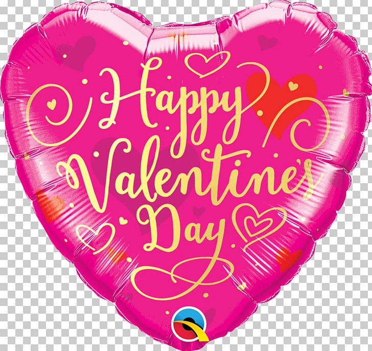 Mylar Balloon Valentine\'s Day Birthday Heart PNG, Clipart.