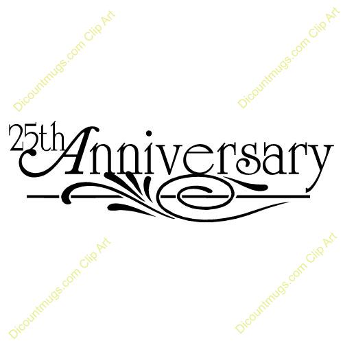 Clipart 10060 25th Anniversary Design 25th Anniversary.