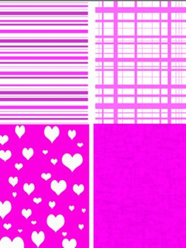 February Digital Background Clipart.