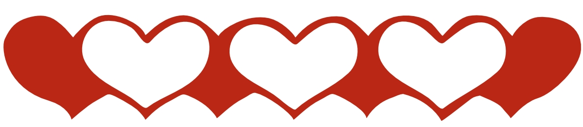 heart clipart image red. blue heart border. hearts border.