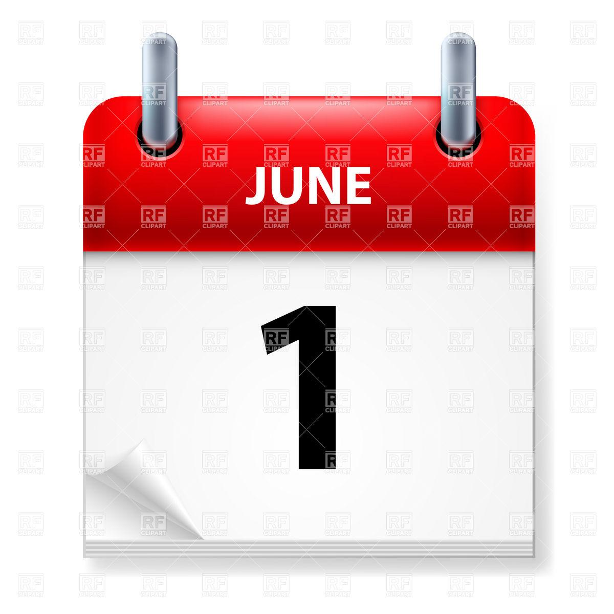 June Calendar Heading Clipart.