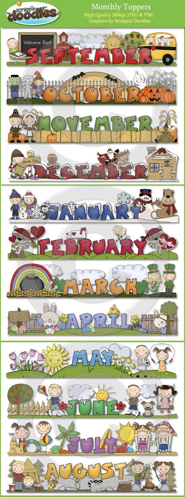 17 Best images about Preschool Calendar Printables on Pinterest.