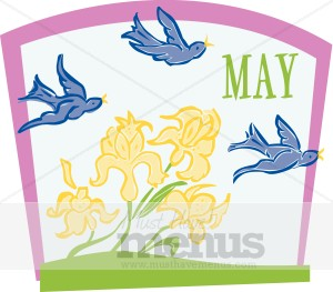 May Calendar Heading Clipart.